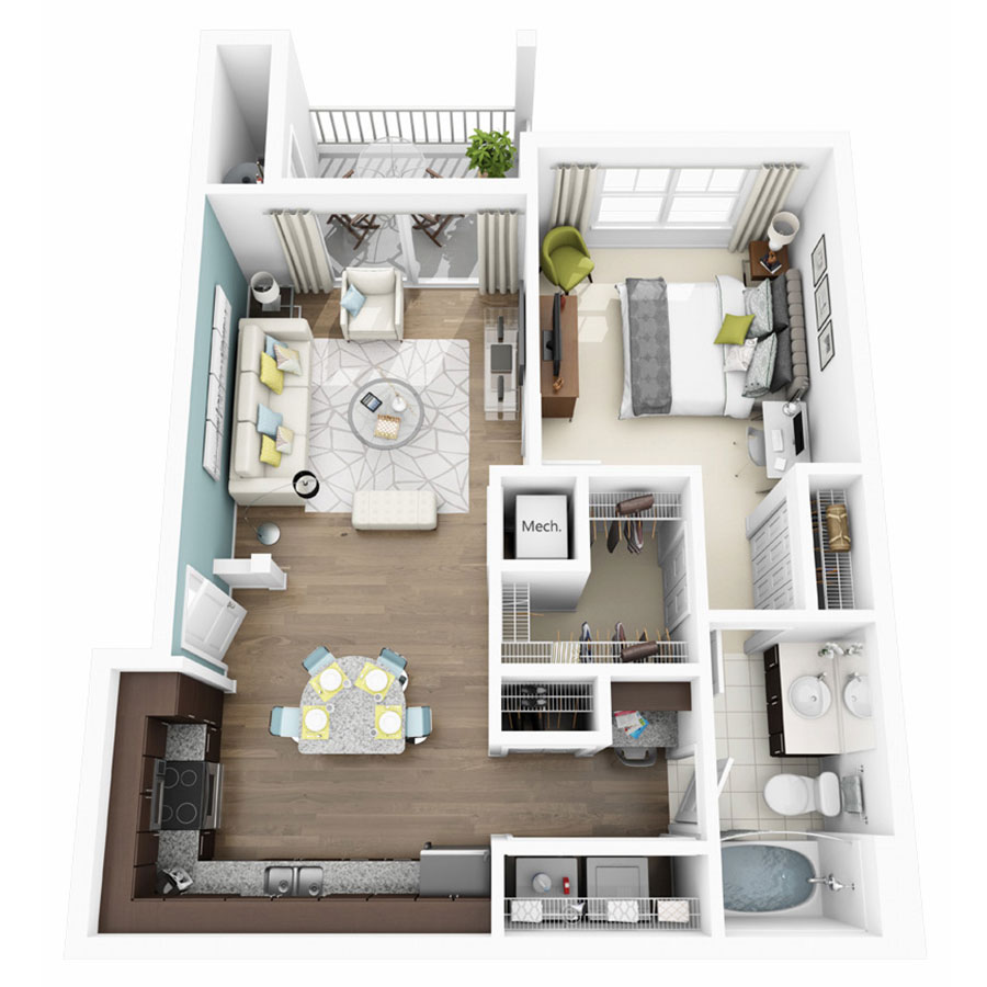 1, 2 U0026 3 Bedroom Apartments In Austin TX | Altis Lakeline Apartments