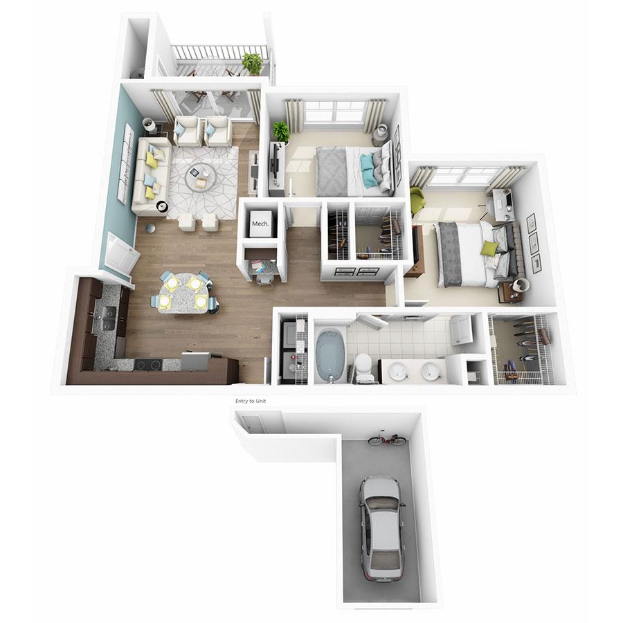 1, 2 & 3 Bedroom Apartments in Austin TX | Altis Lakeline Apartments